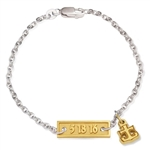 BriteLife Bracelet Sterling & 14K Gold