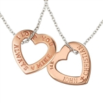 PINK 14K Heart Necklace