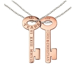PINK 14K Key Necklace