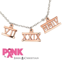 PINK 14K Roman Necklace