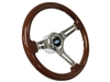 S6 Mahogany Ford Steering Wheel Chrome Kit