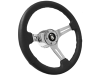VSW S6 Leather Steering Wheel Castle Chrome Kit