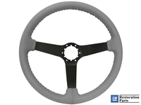 S6 Step Series Grey Steering Wheel with a Black Center