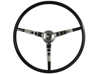 1964 1/2 Ford Mustang Black Steering Wheel Kit