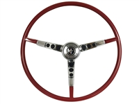 1964.5 Ford Mustang Red Steering Wheel Kit