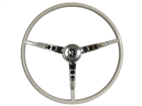 1964 1/2 Ford Mustang White Steering Wheel Kit