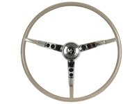 1965 - 1966 Ford Mustang Parchment Steering Wheel Kit