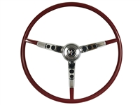 1966 Ford Mustang Red Steering Wheel Kit