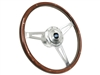 VSW S9 Espresso Stained Wood Steering Wheel Deluxe Classic Ford Oval Kit