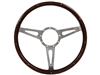 Classic Wood 9 Bolt Riveted Steering Wheel | Espresso Stained