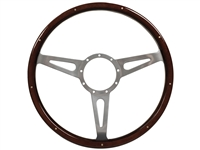S9 Classic Wood Espresso Stained Riveted Steering Wheel