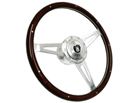 VSW S9 Classic Espresso Wood Steering Wheel Premium Castle Kit