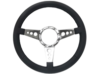 S9 Premium Leather, Tri-Spoke Center with Holes