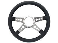 S9 Premium Leather Grip, Quad-Spoke Center with Slots