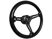 VSW S6 Sport Black Ash Wood Steering Wheel Ford Mustang Running Pony Kit
