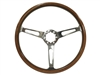 Auto Pro USA , Volante , S6 , classic , wood , slots , Steering Wheel , anodized , GM , MOPAR , FORD , Corvette , Mustang , Charger , Challenger , Camaro , El camino , Impala , bel air , nova , chevy II , oldsmobile , firebird , bronco , vw , super bee