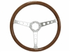 VSW S6 Classic Wood Brushed Steering Wheel