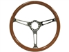 Auto Pro USA , Volante , classic , wood , slots , walnut , chrome , Steering Wheel , anodized , GM , MOPAR , FORD , Corvette , Mustang , Charger , Challenger , Camaro , El camino , Impala , bel air , nova , chevy II , oldsmobile , firebird , bronco , vw ,