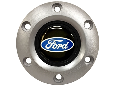 VSW S6 Brushed Horn Button with Ford Blue Oval Emblem