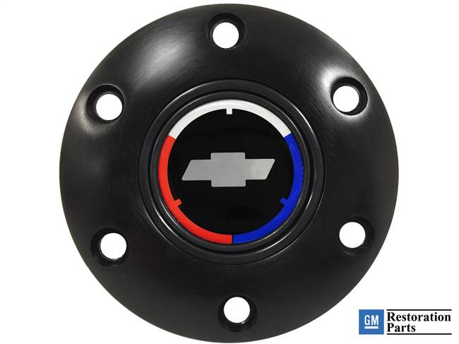 VSW S6 Black Chevy Tri Color Bow Tie Horn Button