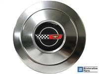 S9 Black Premium Horn Button with C4 Corvette Emblem