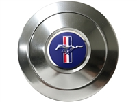 S9 Premium Horn Button with Blue Ford Mustang Running Pony