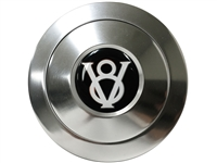 S9 Premium Horn Button with Hot Rod V8 Emblem