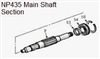 NP435 Main Shaft 4wd 17-3/4 23-Splines Dodge with Ball Input Bearing, 4340267