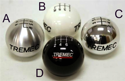 Tremec 6 Speed White Shift Knob with Standard Thread, 6WH-SX