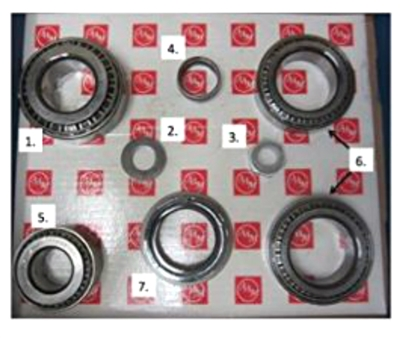 Chevy 2500 3500 GM 9.25 IFS AAM Front Bearing Kit 74067005 - Diff Part