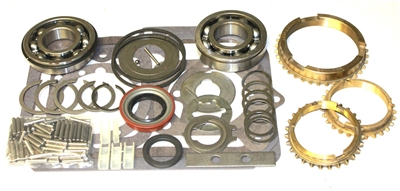 Borg Warner T18 4 Speed Bearing Kit with Synchro Rings 23mm Front Bearing, BK114AWS