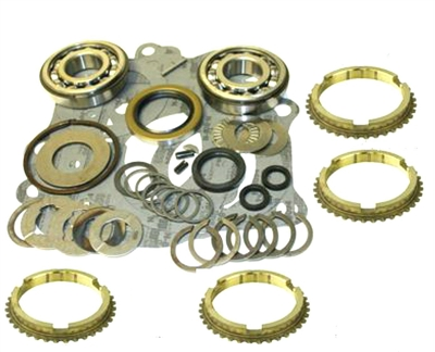 Borg Warner Super T10 4 Speed Bearing Kit HD Kit with Synchro Rings, BK118HDWS | Allstate Gear