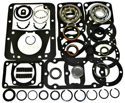 Dodge GM NP435 4 Speed 62-65 with Ball Input Bearing - Bearing Kit with Seals and Gaskets, BK127E