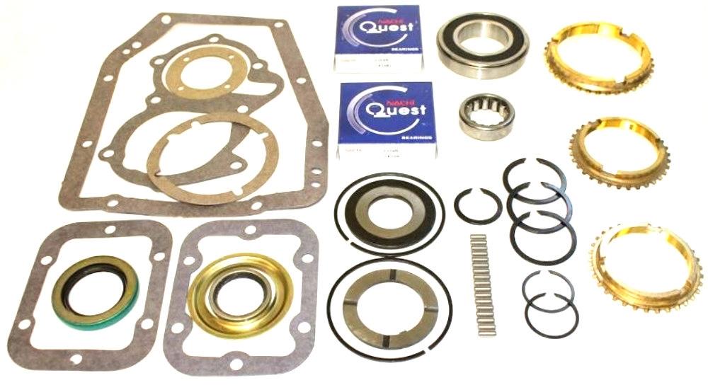 SM465 4 Speed Rebuild Kit with Synchro Rings, BK129LWS