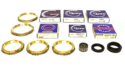 Suzuki Samurai 5 Speed Transmission Bearing Kit with Synchro Rings, BK165WS