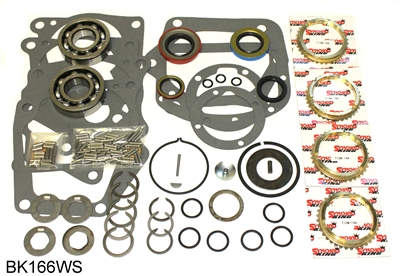 Borg Warner T10 4 Speed Bearing Kit with Synchro Rings, BK166WS