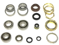 Toyota C52 C56 5 Speed Transmission Bearing Kit with Synchro Rings, BK418AWS