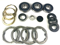 Jeep NSG370 6 Speed Bearing Kit with Seals 4 Tab s-ring design with Synchro Rings, BK478WS