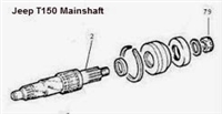 Jeep T150 Main Shaft WT150-2P - T150 3 Speed Jeep Transmission Part