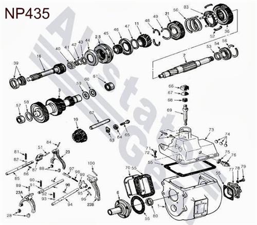 Dodge    NP435       Diagram     Drawing  Dodge Transmission Repair