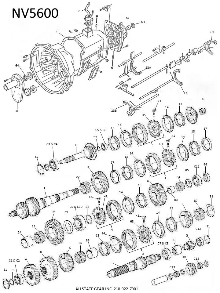 np 261 transfer case diagram