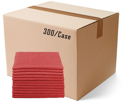"Microfiber Cloths | Bulk 12""x12"" Red"