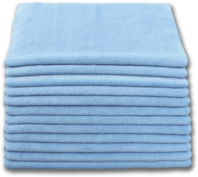 "Microfiber Cloths | 12""x12"" Blue 200 