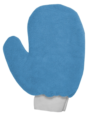 Microfiber Cleaning Hand Mitts Blue | Dusting