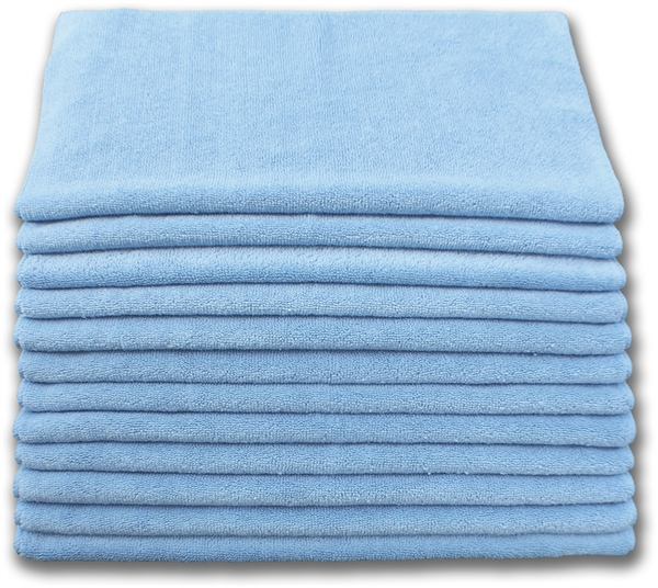 "Microfiber Cloths | 16"" x 16"" Blue 