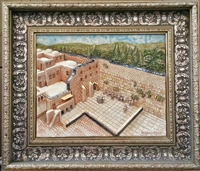 Framed Ceramic Panoramic View - Kotel 20 x 23