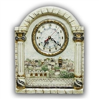Ceramic Panoramic View Jerusalem - Clock