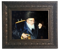 Painting of the Skvere Rebbe