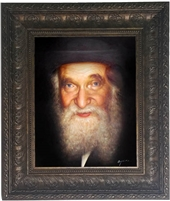 Painting of R' Aharon Kotler (close up)