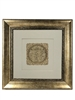 Birkat Habayit Gold Art wall frame Home Blessing in Hebrew 22x22""